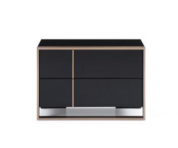 Nova Domus Cartier Modern Black & Rosegold Right Nightstand