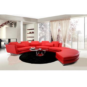 Divani Casa A94 Red - Contemporary Sectional Sofa