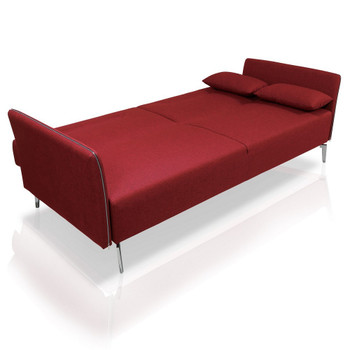 Divani Casa Davenport - Modern Red Fabric Single Sofa