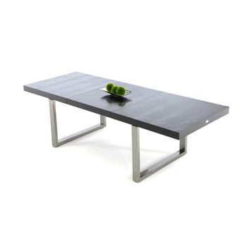 A&X Skyline - Modern Black Crocodile Lacquer Dining Table