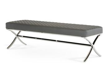 Modrest Adderley Modern Grey Dining Bench
