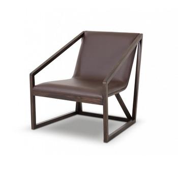 Divani Casa Taranto - Modern Brown Eco-Leather Lounge Chair