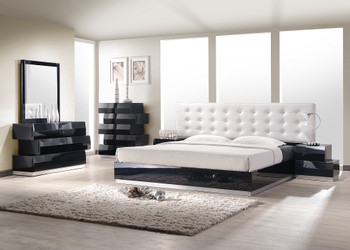 Milan Black Platform Bed