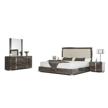 Modrest San Marino Modern Grey Bedroom Set