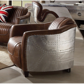 Brancaster Retro Brown Leather Chair