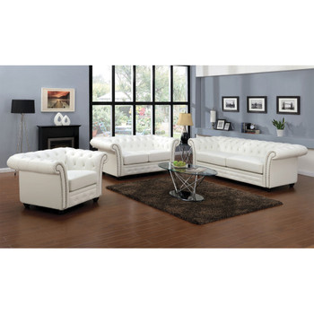 Camden White Bonded Leather Loveseat Camden White Bonded Leather Loveseat.  ACME Furniture