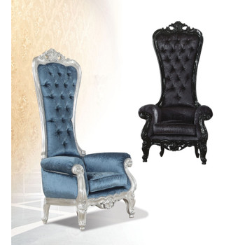 Raven Blue & Silver Accent Chair