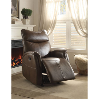 Riso Brown Leather Recliner