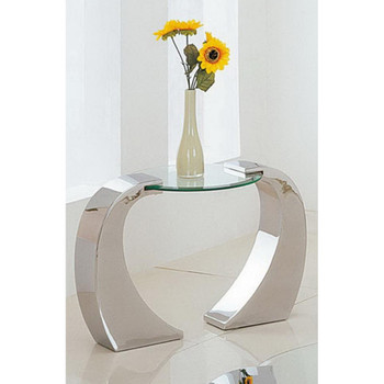 Metro Chrome Plated End Table
