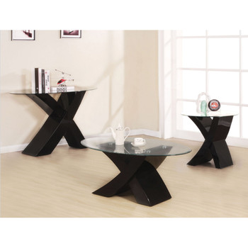 Pervis Black End Table