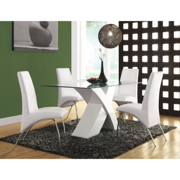 Pervis White Dining Set