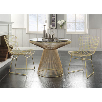Rasia Gold Dining Table