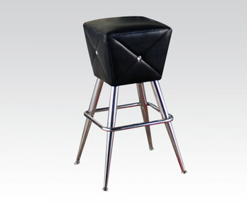 Hali Black & Chrome Bar Stool