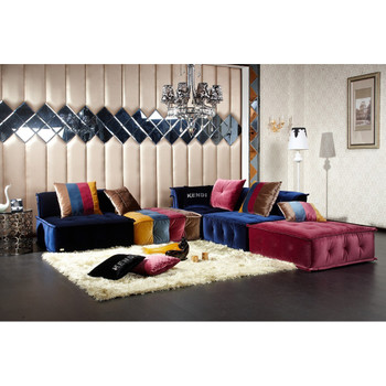 Divani Casa Dubai - Contemporary Fabric Sectional Sofa