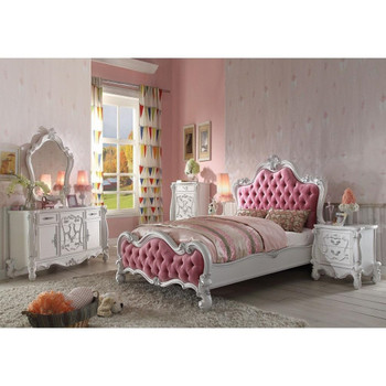 Versailles Antique White Bed