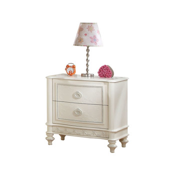 Dorothy Ivory Nightstand with 2 Drawers