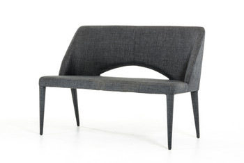 Modrest Williamette Modern Dark Grey Fabric Bench
