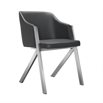 Darcy - Modern Grey Leatherette Dining Chair (Set of 2)