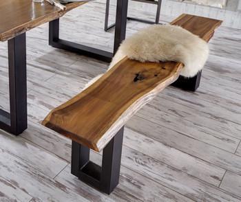 Modrest Taylor Modern Live Edge Wood Dining Bench