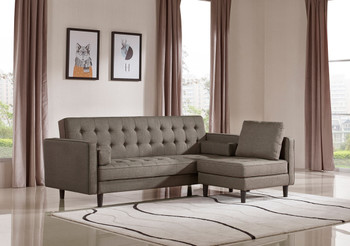 Divani Casa Kestin Modern Brown Sofabed & Chair Set