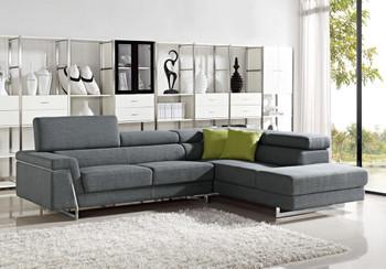 Divani Casa Darby - Modern Fabric Sectional Sofa Set