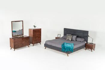 Modrest Addison Mid-Century Modern Walnut Dresser