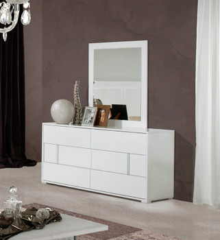 Modrest Nicla Italian Modern White Dresser