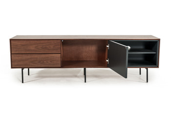 Modrest Kenny Modrest Walnut & Grey TV Stand