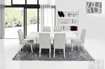 Modrest Aura Modern White Dining Chair