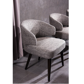 Modrest Carlton Modern Grey Fabric Dining Chair