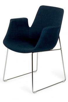 Modrest Altair Modern Blue Fabric Dining Chair