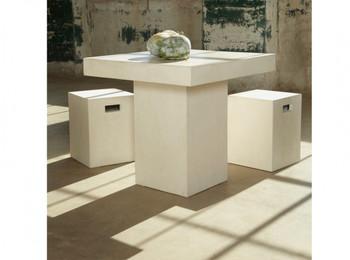 Modrest Yem Ivory Concrete Square Dining Table
