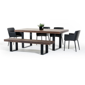 Modrest Lola Modern Walnut Dining Table