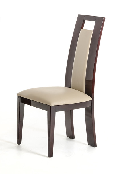 Douglas - Modern Ebony and Taupe Dining Chair (Set of 2)