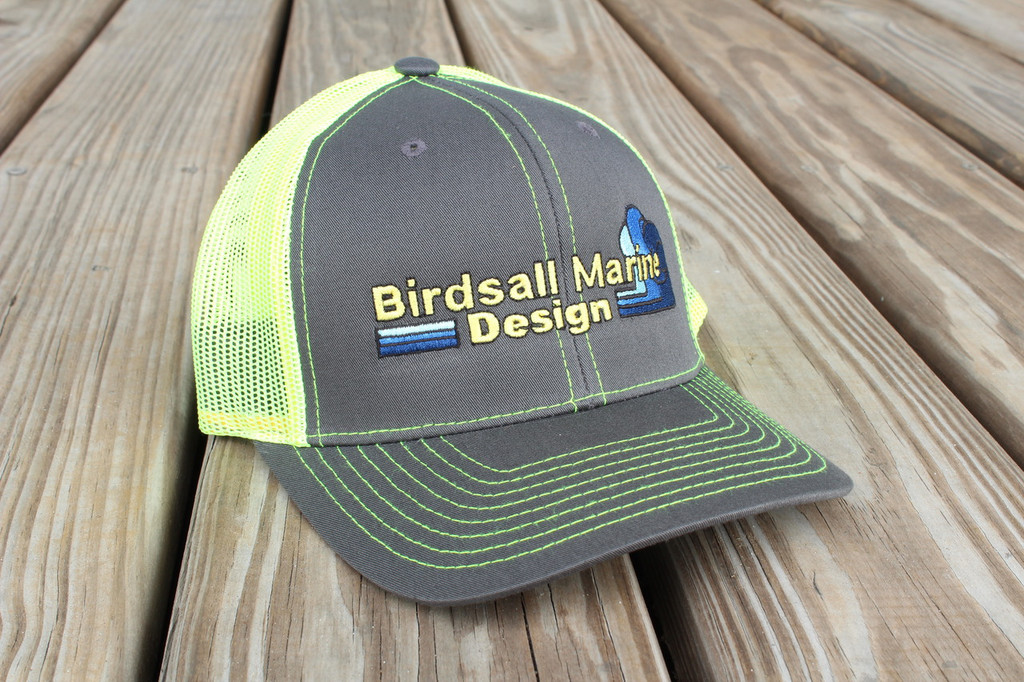 Lime Green Trucker Style Snap Back Hat