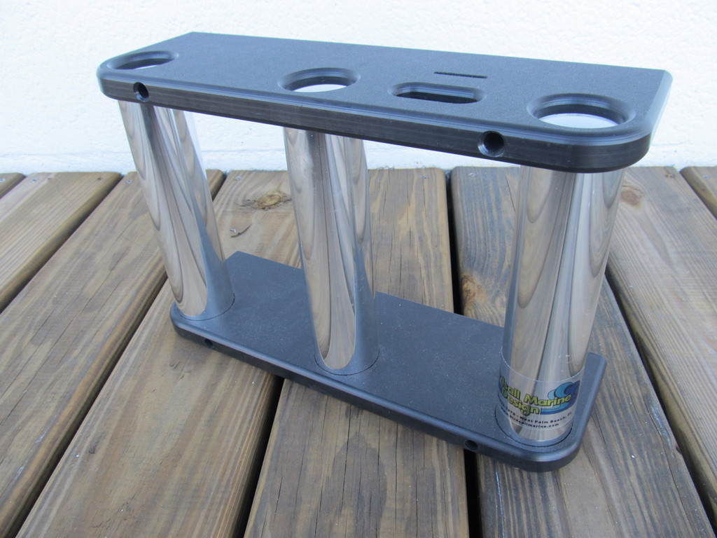"""Console Rod Holders with """"Black"""" Starboard."""
