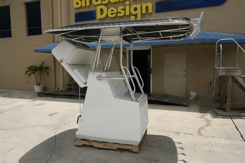 Large Center Console by Birdsall Marine Design featuring are Double Bow T-top