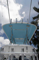 (2) Molded in sreader light facing stern are also a extra detail you will find in a Birdsall Marine Fiberglass Hardtop.