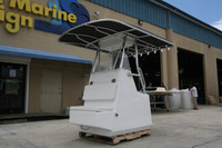 Large Center Console by Birdsall Marine Design featuring are Double Bow T-top http://www.marineproducts.net/products/Double-Bow.html
