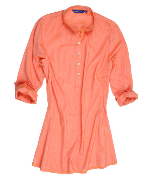 Estacia B19014-703-Long-Sleeves Plus sizes - Cotton Women Tunic