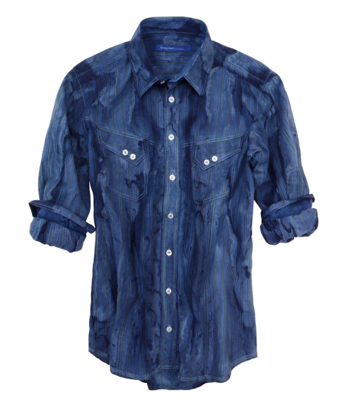 El Paso-18006W-014-Long-Sleeves-Garment Dyed Men Shirt