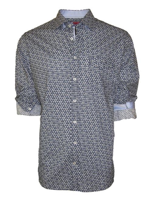 Strasbourg-21033-050-Long-Sleeves Cotton Print Mens Shirt