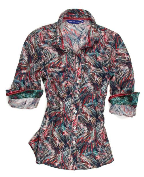 Trina B90018-750 Long Sleeves Liberty of London Silk