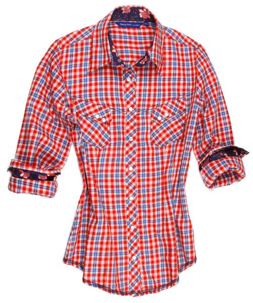 Marie B15005-705 Long Sleeves-Cotton-Snaps-Women-Blouse