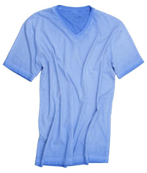 V-Neck Blue Lagoon Short Sleeves TVSS-5027