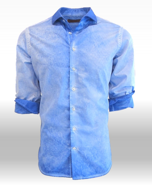 Bodega Bay-24014W-020-Long-Sleeves Garment Dyed Cotton Shirt
