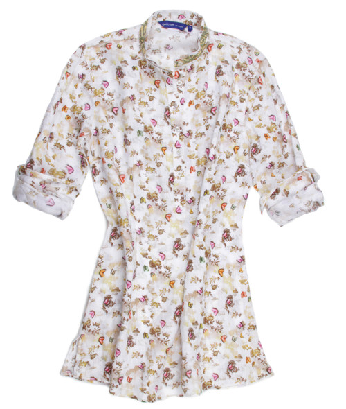Hannah-B19034-703-Butterfliy Tunic-Long-Sleeves