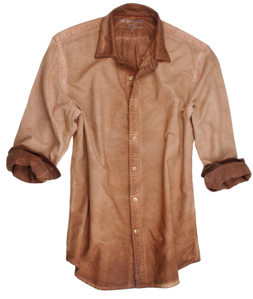 Woodlands-24002W-Long-Sleeves-Garment Dyed-Men-Shirt/Overshirt