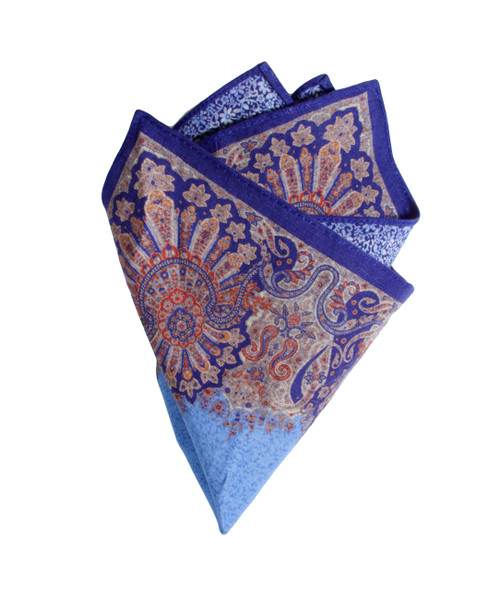 Pocket Square Blue 1050
