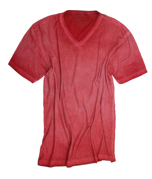 GRLA-V-3000-Brick-Short-Sleeves-Garment Dyed-T-Shirt
